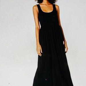 AMAZON Essential Dress Tank Maxi Waisted Black L